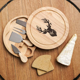 Stag cheese board and tools