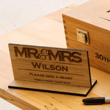 Sign-Your-Name wedding guestbook chest with slot
