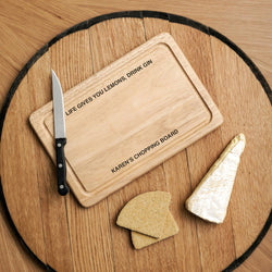 Personalised Message Chopping Board