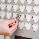 Photo wedding guest book with hearts