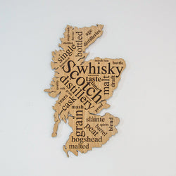Scotland whisky word map