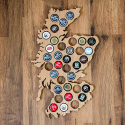 Beer Cap Scotland Map