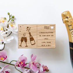 NEW! Congratulations wooden postcard