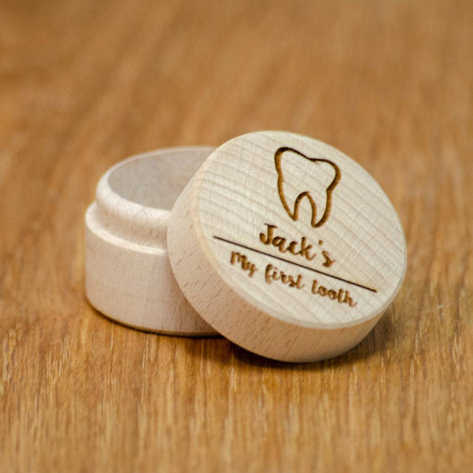 Personalised 'My first tooth' tooth fairy box