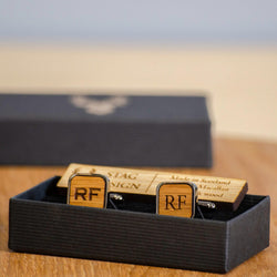 Square whisky wood or walnut cufflinks