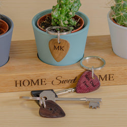 Personalised plectrum key ring
