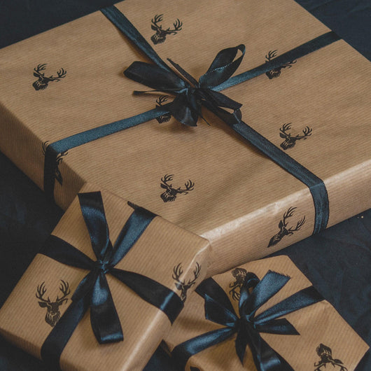 Stag Design wrapping paper