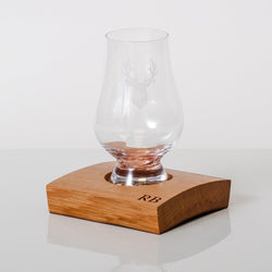 Single or double whisky wood flight for glasses