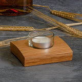 Single whisky cask tea light holder
