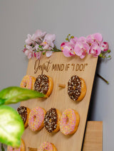 Donut wall display board