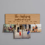 Hanging photo display board