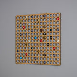 Beer cap wall hanging display