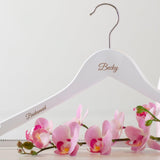 Personalised white coat hangers