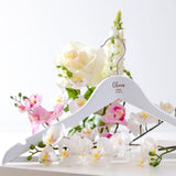 Personalised wedding white coat hangers