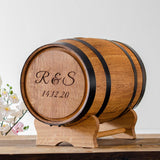 Barrel wedding post box for gift cards