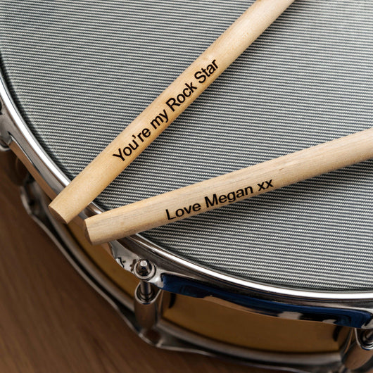 Personalised drumsticks - drum sticks