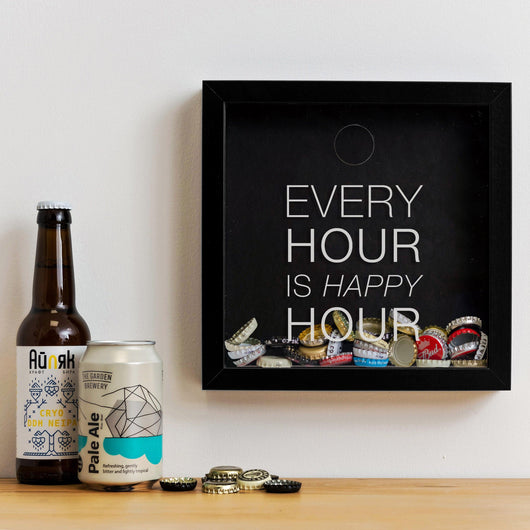 'Every Hour is Happy Hour' memory box frame