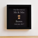 The first toast, cork saver memory box frame