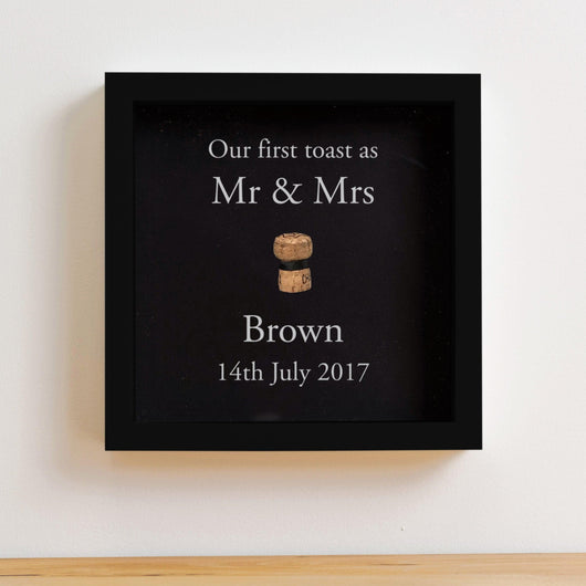First toast cork saver memory box frame