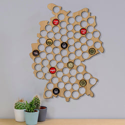 Beer Cap Germany Map