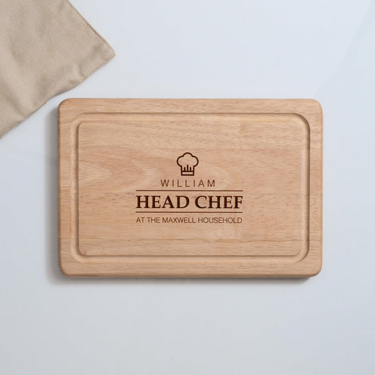 Personalised Family Head Chef Chopping Board