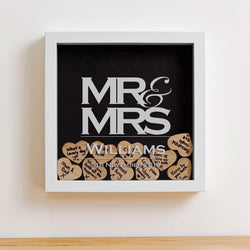 Mr & Mrs dropbox with 25 hearts
