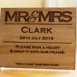 Mr & Mrs guestbook sign - Stag Design  - 1