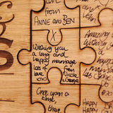 Mr & Mrs Jigsaw Guestbook - personalised jigsaw with option of black or white frame - Stag Design  - 5