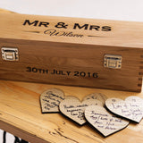Personalised Mr & Mrs wedding champagne, wine or whisky box - Stag Design