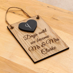 Wedding countdown chalkboard - Stag Design  - 1