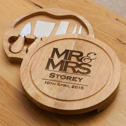 Mr & Mrs Cheeseboard - Stag Design  - 1