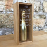 """This house runs on..."" 20cl bottle box - Stag Design  - 4"