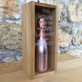 """This house runs on..."" 20cl bottle box - Stag Design  - 1"