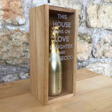 """This house runs on..."" 20cl bottle box - Stag Design  - 3"