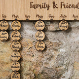 Personalised Birthday Board with 25 discs - Stag Design  - 4