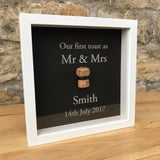 The first toast, cork saver memory box frame - Stag Design  - 1