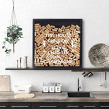 Extra large champagne cork, wine cork, beer bottle caps memory box
