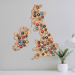 Beer Cap UK and Ireland Map