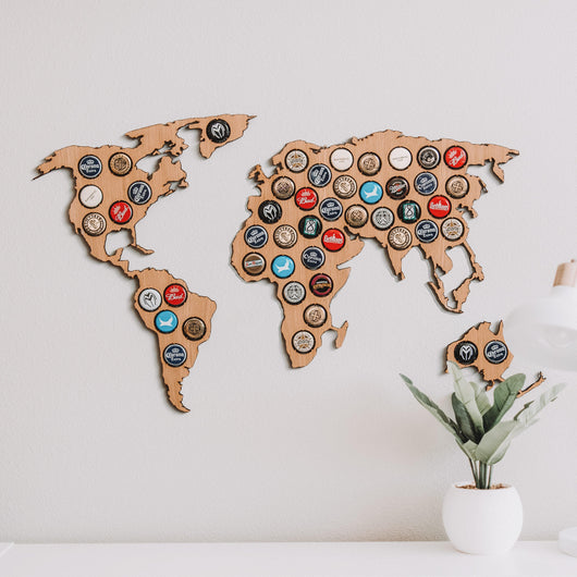 Beer Cap World Map