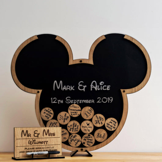 Mouse ears guestbook (Mickey Mouse Theme)