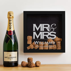 Mr & Mrs cork memory box