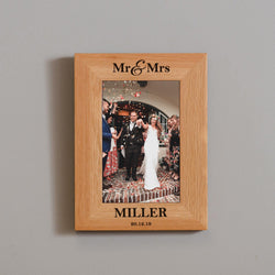 Oak wedding photo frame