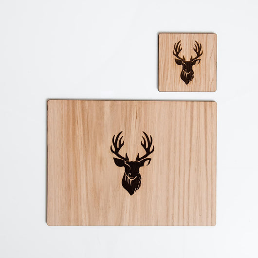 Stag head placemats