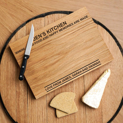 Premium personalised oak chopping board