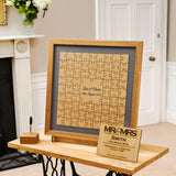 Jigsaw guestbook for weddings