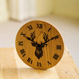 Solid oak clock with custom engraving