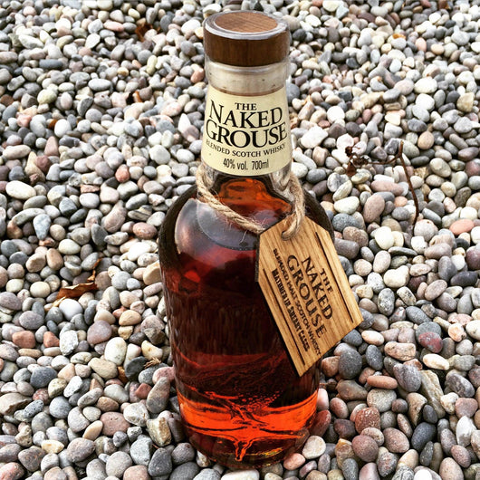 Promotional oak neck tags for Naked Grouse Whisky - Stag Design