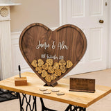 Heart shaped dropbox guestbook