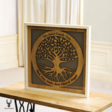 Extra large Family Tree with names engraved in a circle - wooden tree design