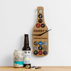 Beer cap bottle clock